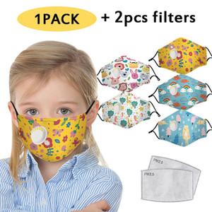 Enfants Adultes Facemask enfants masques visage Kawaii Imprimer Masque Scarf Mascherine Filles Garçons de sécurité masques de visage