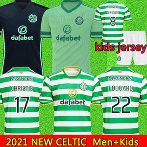 2020 21 FC Celtic Soccer Jerseys MCGREGOR GRIFFITHS BROWN FORREST Football shirts Celtic FC EDOUARD 20 21 Men+Kids Kits jersey