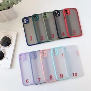 Telefon-Kasten für iPhone 11 Pro Max XS Max 8 Plus Luxus-Kontrast-Farben-Rahmen Harten Matt PC schützend für iPhone 11 Fall
