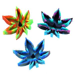 Силиконовая пепельница Eco-Friendly Colorfull силиконовая резина Нераскруемая высокотемпературный термостойкий квадратный дизайн Ashtray Бесплатная доставка