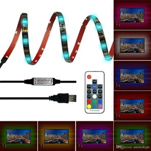 RGB LED Strip 5050 30LED M DC 5V USB LED Light Strips Waterproof Flexible Neon Tape 1M-5M add Remote For TV Background