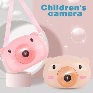Ücretsiz Gemi Elektrik domuz kabarcık makine oyuncak net kırmızı kız kalp çocuk karikatür otomatik kabarcık üfleme kamera Yenilikçi Oyun