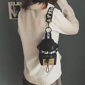 ZDARLBO Frauen Fanny-Pack Brief Chest Tasche Hip Hop Banana Gürteltasche Mini Schulter Umhängetaschen Female Nylon Hüfttaschen
