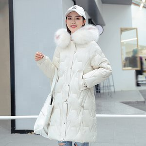 Fur Collar 2020 Winter Women's Long Jacket Hooded Solid Long Parkas Woman Plus Size Cotton Padded Warm Casual Thick Female Coats