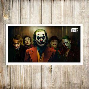 O Wall Art Joker Movie Poster pintura da lona Wall Art para Living Room Home Decor (No Frame)