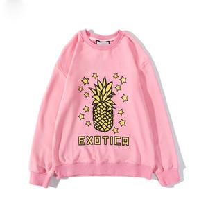 xotica ананас Hoodie Måns женщин Кофты Рубашки с длинным рукавом толстовки осень весна одежды Отпечатано письмо Вишневый маргаритки свитер M-2XL