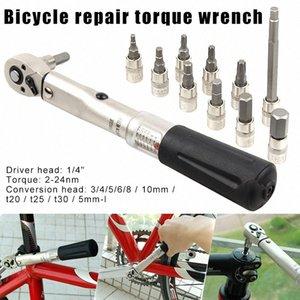 Bicicletas llave de torque 1/4 de pulgada 2-24nm Tornillos Grip Herramienta para completar un ciclo de reparación de bicicletas WHShopping H1TM #