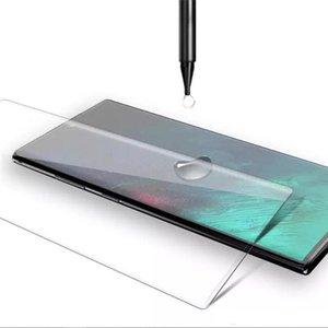 3D curvo completa Colla UV Liquido, vetro temperato per Samsung S20 ultra S10 S9 Inoltre Nota 20 Schermo 10 completa adesivo protezione per Huawei P40 Pro
