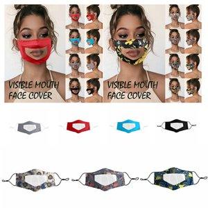 Lip couvercle visage bouche visible masque clair anti-buée doux masque transparent masque impression PET-couleur unie adulte extérieur masques anti-poussière FFA4246