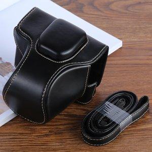 Bolsa de proteção XT100 PU Leather Camera para FUJIFILM XT100 Camera, com pulseira