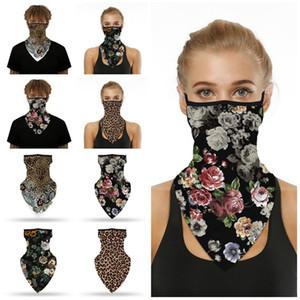 quente Popular máscara passeios a estampa de leopardo impressão digital máscara facial triângulo montanhismo inseto prova Magia lenço T2I51170