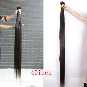 BeautyStarQuality 40inch Silky Straight Hair Raw Original Indian Malaysian Virgin Human Hair Extensions Unprocessed Raw Hair