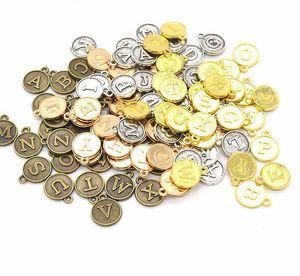 130pcs 5sets 15*12MM Alloy Alphabet English Letters Charms Pendants Diy Jewelry Accessories
