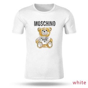 Moschino мужские дизайнерские футболки дисконтированных мужчин с коротким рукавом футболки Марка Дешевые Лучшее качество черные часы поло команды Free Shippin