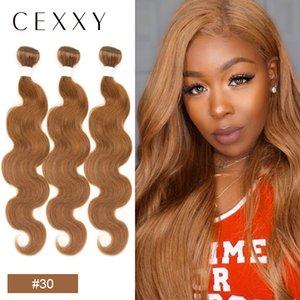 Cexxy Brazilian BodyWave Hair Weave Bundles Burgundy Ombre Hair Bundles 10-26 Inch Hair Extension