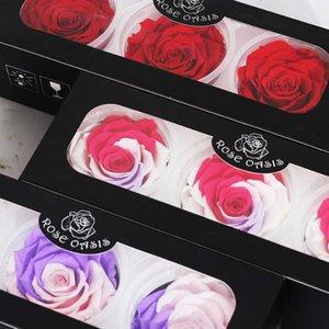 1 Box Eternal Flores Preservadas Naturales Сухоцветы Сохранилось Цветы Бессмертный Роза 8см День Святого Валентина Подарок на день рождения