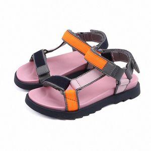 Bambini sandali di alta qualità 2020 scarpe da spiaggia dei bambini di estate ragazze dei sandali autentico ragazzi del cuoio taglia 26 37 bambini di calzature online Stivali Fo rg7d #