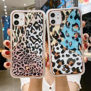 Роскошный леопардовым принтом телефон дела для Iphone 12 Pro 11 11Pro Max X XR XS Max 6 6S 7 8 Plus Phone Case задней стороны обложки