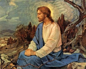 Jesucristo llora sobre Jerusalén cristiana Decoración Artesanías / impresión de HD pintura al óleo sobre lienzo arte de la pared de la lona representa 200719