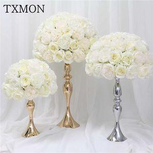 35cm 45cm 50cm Artificial silk rose peony flower ball wedding center table flower Bouquet for wedding party decoration flowers