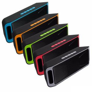 Radio FM SC208 Mini Bluetooth inalámbrico portátil Altavoces Loudly reproductor de música grande de la energía del subwoofer del TF USB