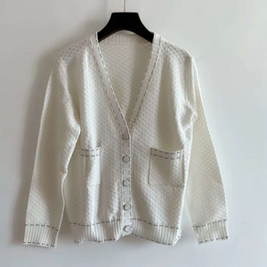 716 2020 Autumn Plus Size Sweater Free Shipping Kint Long Sleeve V Neck Prom Fashion White Cardigan Womens Clothes jiaxing