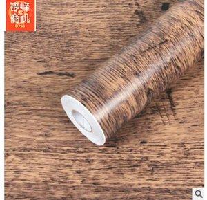 Gros salon chambre auto-adhésif papier peint en bois PVC imperméable Meubles de salle rénovation papier peint auto-adhésif 45CMX10M