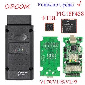 Mise à jour du micrologiciel Flash peut OPCOM 1,99 1,95 1,70 OBD2 CAN BUS Lecteur de code pour OP COM OP COM Diagnostic PIC18F458 FTDI Chip nyQP #