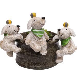 Zakka Escalada Resina animal Figurines pequeno Início Jardim Suculenta Plantio decorativa Objetos Statues Microlandschaft Polyresin animais