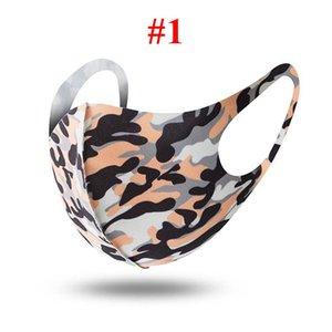 Hot vente Entretien ménager Camouflage vent poussière Masque pour hommes et femmes réutilisable Masque lavable Masque 5 styles Designer Avec DHL Livraison