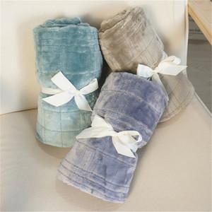 Flanelle bébé Couvertures Canapé Couvre-jambes Throw Blanket Climatisation Salle douce et chaude Textile camping en plein air Articles de D2