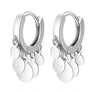Stainless Steel Hoops Earrings For Women Fashion Party Jewelry Drop Earring Prevent Allergy Round Ear Ring Accessories EH447
