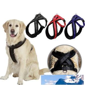 серия Pet моды принадлежности для собак путешествовать по технике безопасности собака Harness большая собака фланель нейлоновые лямки Harness 4 размера 3 цвета