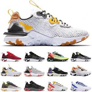 ultimo reagiscono visione Honeycomb scarpe da corsa uomini donne Air reagisce elemento 87 55 Luce Bone allevato Hyper rosa mens allenatori sportivi scarpe da ginnastica