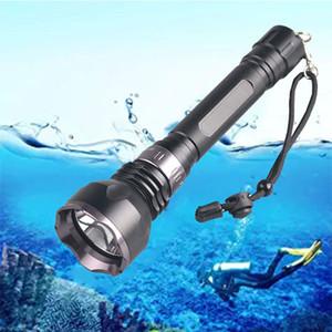 TMWT 3800Lm del CREE XM-L2 impermeabile Diving Diving Luci Torcia Giallo Lampada UV Rosso subacquea 80 Meter LED