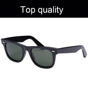 Top-Qualität 2140-50mm Mens-Frauen-Sonnenbrille Quadrat Azetat Rahmen Echt UV400 Glaslinsen Damen Herren Sonnenbrillen mit Zubehör