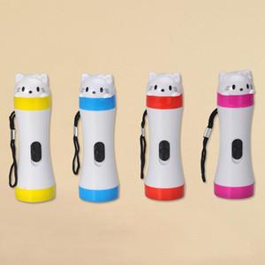 الصمام مصغرة البلاستيك القط متوهجة لطيف لعبة مضيئة LED صغيرة القط البلاستيك متوهجة لطيف لعبة مصباح يدوي مضيئة مصباح يدوي مصباح يدوي