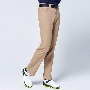 Autumn Winter Windproof Men Golf Pants Thick Keep Warm Long Pants High Stretch Full Length Trousers Golf Clothing D0651 wxv0#