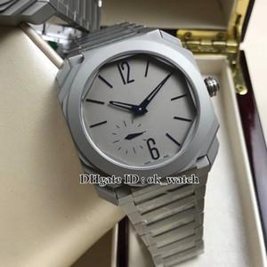 Beste Version Octo Finissimo Titangehäuse BGO40C14TTXTAUTO / L 102945 Automatische 28800 vph Herrenuhr Grau Dial New Herren Business-Uhren