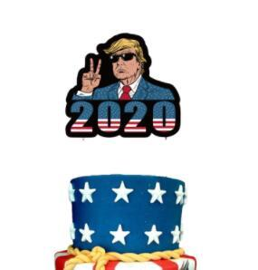 Donald Trump 2020 Flags lattice Coriandoli Balloons Set Tromba Compleanno Pull String Bandiera Cake Card + Presidente Votazione Accessries BWF271