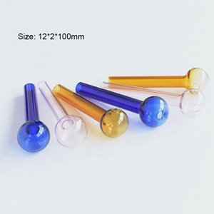 2020 Hot Sale Glass Oil Burner Pipes Glass Spoon Hand Pipe Tobacco Bongs For Smoking Accessories SYJ002