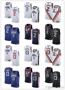 Womens Juventude MensLosAngelescliper2 KawhiLeonard 13 Paulpersonalizado azul George Preto branco s Basketball Jerseys