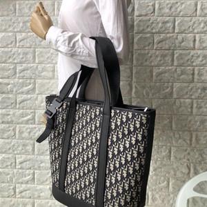 7A qualidade alta-fim compras topo saco de bezerro terminar jacquard preto alça ajustável e alça de ombro fivela para utilização duplo