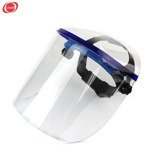 Totalmente fechado plexiglass à prova de respingo transparente cabeça-montado soldagem protecção cozinha máscara de soldagem Capacetes entrega gratuita