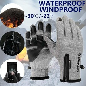 New Winter Warm Fashion Unisex Fleece Outdoor Sports Waterproof Windproof Riding Bicycle Motorcycle Skiing Hiking Touch Screen Gloves
