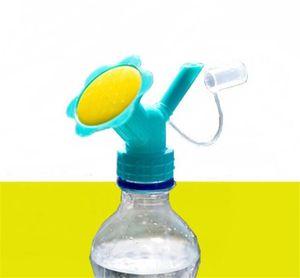 새로운 파티오 2IN1 플라스틱 스프링클러 노즐 꽃 급수기 병에 물을 캔 스프링 샤워 헤드 원예 도구