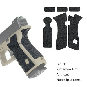 2PCS HQ Pistol Grip Non-slip Rubber Texture Anti-wear Protective Tape Film For Glo ck G17 G19 G26 G43 Accessories Series Handgun Model FREE