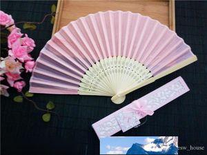 عدد المعجبين تقليد الحرير الصينية اليد للطي مروحة النمط الصيني الصيف المشجعين مفيد هدايا الزفاف مروحة هوائية لحفلات الزفاف العروس الزوار الشحن مجانا 50pcs