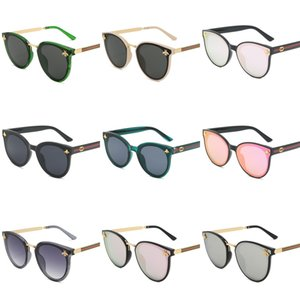 2020 Unisex Men Women Natural White Buffalo Horn Glasses Gold Silver Metal Fashion Mens Sports Sunglasses Special Edition With Es#951