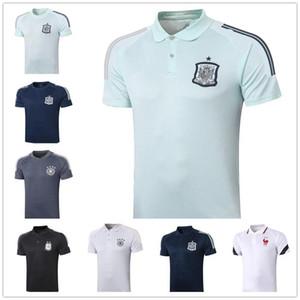 Spanien Polo 20 20 Argentinien Französisch Fußballmannschaft Polo-Shirt 20 21 Qualitätsfußball Jersey Training Jogging